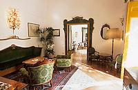 Europe/Italie/Côte Amalfitaine/Campagnie/Positano : Palazzo Murat via del Mulini - Salon