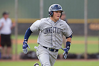 Connecticut Huskies second baseman L.J. Mazzilli #24 during a game against the Purdue Boilermakers at the Big Ten/Big East Challenge at Walter Fuller Complex on February 18, 2012 in St. Petersburg, Florida.  (Mike Janes/Four Seam Images)