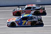 #7: Justin Allgaier, JR Motorsports, Chevrolet Camaro Hellmann's / Fight Hunger Spark Change and #20: Christopher Bell, Joe Gibbs Racing, Toyota Supra Rheem-Johns Mansville