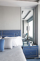 Bedroom with blue accents