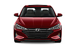 Car photography straight front view of a 2020 Hyundai Elantra Limited 4 Door Sedan Front View
