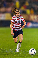 Heather O'Reilly (9) of the United States (USA). The United States (USA) and Germany (GER) played to a 2-2 tie during an international friendly at Rentschler Field in East Hartford, CT, on October 23, 2012.
