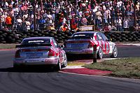 1997 British Touring Car Championship. #1 Frank Biela (DUE) & #7 John Bintcliffe (GBR). Audi Sport UK. Audi A4 Quattro.