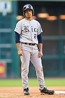 Anthony Rendon #23 of the Rice Owls looks to his coach as he stands on third base during the game against the Baylor Bears at Minute Maid Park on March 6, 2011 in Houston, Texas.  Photo by Brian Westerholt / Four Seam Images