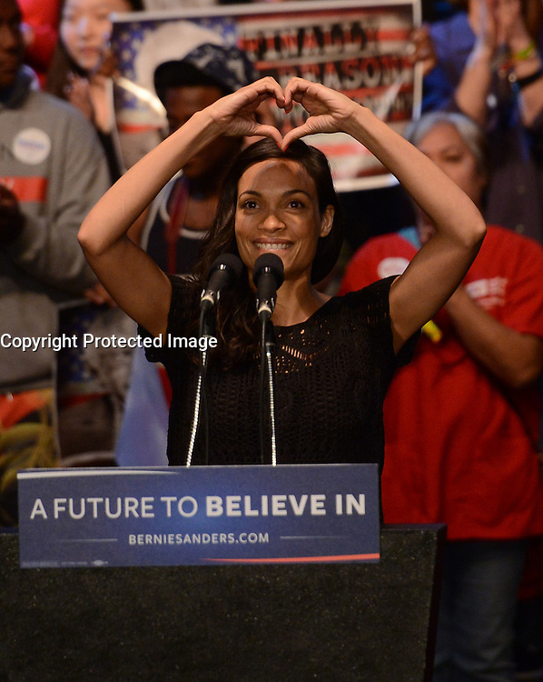 Rosario Dawson @ the 'Future to Believe in' Los Angeles held @ the Wiltern.<br /> March 23, 2016