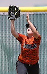 Douglas Tigers' Katie Chieffo makes a play against the Galena Grizzlies in a first round game of the NIAA northern region softball tournament in Reno, Nev., on Thursday, May 15, 2014. <br /> Photo by Cathleen Allison