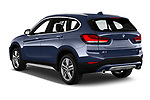 Car pictures of rear three quarter view of 2020 BMW X1 X-Line 5 Door SUV Angular Rear