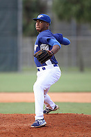 Jeremiah Muhammad, #11 of Coral Springs Christian Academy, FL playing for the Atlanta Blue Jays Team during the WWBA World Championship 2013 at the Roger Dean Complex on October 26, 2013 in Jupiter, Florida. (Stacy Jo Grant/Four Seam Images)