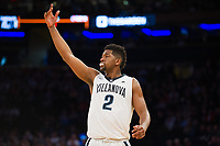 NEW YORK, NY - Thursday March 9, 2017: Kris Jenkins (#2) of Villanova celebrates a bucket against St. John's as the two schools square off in the Quarterfinals of the Big East Tournament at Madison Square Garden.