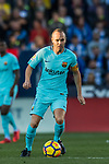Andres Iniesta Lujan of FC Barcelona in action during the La Liga 2017-18 match between CD Leganes vs FC Barcelona at Estadio Municipal Butarque on November 18 2017 in Leganes, Spain. Photo by Diego Gonzalez / Power Sport Images