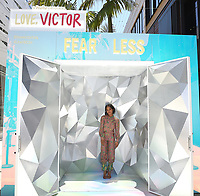 """SANTA MONICA, CA - JUNE 11: Rachel Hilson poses for a photo at a special photo-activation in honor of Pride Month and the Season 2 premiere of the Hulu Original Series """"Love, Victor,"""" on June 11, 2021 in Santa Monica, California. (Photo by Frank Micelotta/Hulu/PictureGroup)"""