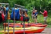Rental kayak instruction, Smithville, New Jersey