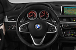 Car pictures of steering wheel view of a 2016 BMW X1 xLine 5 Door Suv Steering Wheel