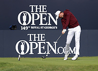 16th July 2021; Royal St Georges Golf Club, Sandwich, Kent, England; The Open Championship Tour Golf, Day Two; Justin Thomas (USA) hits his driver from the tee at the 1st hole
