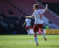 2nd April 2021; Vitality Stadium, Bournemouth, Dorset, England; English Football League Championship Football, Bournemouth Athletic versus Middlesbrough; Duncan Watmore of Middlesbrough shoots and scores in 63rd minute 1-1