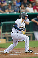 San Antonio Missions second baseman Casey McElroy (2) follows through on his swing during the Texas League baseball game against the Corpus Christi Hooks on May 10, 2015 at Nelson Wolff Stadium in San Antonio, Texas. The Missions defeated the Hooks 6-5. (Andrew Woolley/Four Seam Images)