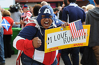 A USA fan soaks up the atmosphere before Match 18 of the Rugby World Cup 2015 between Scotland and USA - 27/09/2015 - Elland Road, Leeds<br /> Mandatory Credit: Rob Munro/Stewart Communications