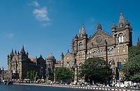 Bahnhof Chhatrapati Shivaji Terminus (Victoria Terminus), Kolonialgebäude, Indien, Bombay (Mumbai), Unesco-Weltkulturerbe