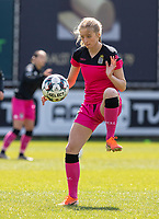 Ludmila Matavkova (9) of Sporting Charleroi pictured during a female soccer game between Eendracht Aalst and Sporting Charleroi on the third matchday of play off 2 of the 2020 - 2021 season of Belgian Scooore Womens Super League , Saturday 24 th of April 2021  in Aalst , Belgium . PHOTO SPORTPIX.BE | SPP | KRISTOF DE MOOR