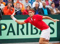 16-09-12, Netherlands, Amsterdam, Tennis, Daviscup Netherlands-Suisse, Roger Federer