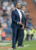 Real Madrid's coach Julen Lopetegui (r) and Getafe CF's coach Jose Bordalas during La Liga match. August 19,2018.  *** Local Caption *** © pixathlon<br /> Contact: +49-40-22 63 02 60 , info@pixathlon.de