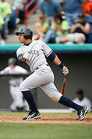 April 15, 2009:  Infielder Luis Nunez (11) of the Tampa Yankees, Florida State League Class-A affiliate of the New York Yankees, during a game at Space Coast Stadium in Viera, FL.  Photo by:  Mike Janes/Four Seam Images