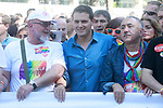 President of Ciudadanos Albert Rivera during the demonstration of World Pride Madrid 2017. July 1, 2017. (ALTERPHOTOS/Acero)