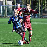 Dames Zulte Waregem - Club Brugge : Catherine Szynal voor Silke Demeyere.foto Joke Vuylsteke / Vrouwenteam.be