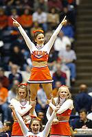UVa cheerleaders in Charlottesville, Va.