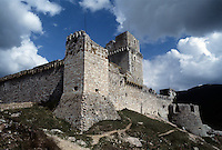 Italy: Assisi--Castle Fortress XIV century. Photo '85.