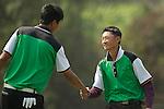Yi-Chen Liu of Taiwan and Lok Tin Liu of Hong Kong during the 2011 Faldo Series Asia Grand Final on the Faldo Course at Mission Hills Golf Club in Shenzhen, China. Photo by Raf Sanchez / Faldo Series
