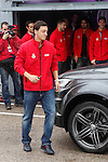 Real Madrid player Mesut Ozil participates and receives new Audi during the presentation of Real Madrid's new cars made by Audi at the Jarama racetrack on November 8, 2012 in Madrid, Spain.(ALTERPHOTOS/Harry S. Stamper)