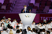 210723 -- TOKYO, July 23, 2021 -- International Olympic Committee IOC President Thomas Bach speaks during the opening ceremony of the Tokyo 2020 Olympic Games, Olympische Spiele, Olympia, OS at the Olympic Stadium in Tokyo, Japan, July 23, 2021.  TOKYO2020XHTP-JAPAN-TOKYO-OLY-OPENING CEREMONY FeixMaohua PUBLICATIONxNOTxINxCHN <br /> 23/07/2021 <br /> Open Ceremony <br /> Photo XINHUA / Imago  / Insidefoto ITALY ONLY