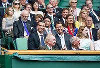 04-07-12, England, London, Tennis , Wimbledon, Royal Box on center court, Richard Krajicek and Jacco Eltingh