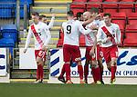 St Johnstone v Kilmarnock…25.02.17     SPFL    McDiarmid Park<br />Connor Sammon celebrates his goal<br />Picture by Graeme Hart.<br />Copyright Perthshire Picture Agency<br />Tel: 01738 623350  Mobile: 07990 594431