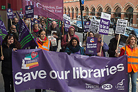 UNISON protest over library cuts 3-11-18