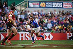 Samoa vs Belgium during the HSBC Sevens Wold Series match of the Cathay Pacific / HSBC Hong Kong Sevens at the Hong Kong Stadium on 28 March 2015 in Hong Kong, China. Photo by Xaume Olleros / Power Sport Images