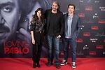 Spanish actress Penelope Cruz, director of the film Fernando Leon de Aranoa and spanish actor Javier Bardem attends to presentation of film 'Loving Pablo' in Madrid , Spain. March 06, 2018. (ALTERPHOTOS/Borja B.Hojas)