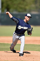 Milwaukee Brewers pitcher Josh Uhen (31) during an Instructional League game against the San Francisco Giants on October 10, 2014 at Maryvale Baseball Park Training Complex in Phoenix, Arizona.  (Mike Janes/Four Seam Images)