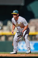 Oakland Athletics Kyle Nowlin (18) during an Instructional League game against the Arizona Diamondbacks on October 15, 2016 at Chase Field in Phoenix, Arizona.  (Mike Janes/Four Seam Images)