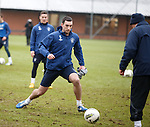 Lee Wallace about to charge in on clipboard Kenny