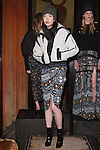 Jiaye poses in an outfit from the Veronica Beard Fall 2017 collection on February 13, 2017 at The Jane Hotel in New York City, during New York Fashion Week: Women Fall Winter 2017.
