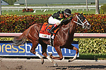 HALLANDALE BEACH, FL - JUNE 30:  #7 Stromy Embrace (FL), trained by Kathleen O'Connell,  with jockey Wilmer Garcia on board wins the G2 Princess Rooney Handicap Stakes at Gulfstream Park on June 30, 2018 in Hallandale Beach, Florida. (Photo by Liz Lamont/Eclipse Sportswire/Getty Images)
