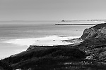 Crystal Cove looking north in B&W.