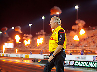 Oct 11, 2019; Concord, NC, USA; Todd Smith, crew chief for NHRA funny car driver J.R. Todd during qualifying for the Carolina Nationals at zMax Dragway. Mandatory Credit: Mark J. Rebilas-USA TODAY Sports