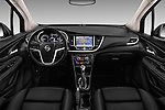 Stock photo of straight dashboard view of 2017 Opel Mokka-X Innovation 5 Door SUV Dashboard