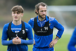 St Johnstone Training….19.08.20<br />Stevie May pictured during training at McDiarmid Park this morning ahead of tomorrow's re-arranged game against Aberdeen.<br />Picture by Graeme Hart.<br />Copyright Perthshire Picture Agency<br />Tel: 01738 623350  Mobile: 07990 594431