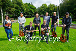 """Musicians launch the Tralee Music Revival """"Live Music is coming back to Tralee"""" in Tralee on Friday. Kneeling l to r: Darragh Breen (Aftershock) and Ivan O'Connor (Renovator). Back l to r: Lucy White (Sempre Screams), Ross Brassil (Comic Book Heroes), Damien Greer (Sweet FA), Dave Scott (Tralee Chamber of Alliance), Michael Wagner (Queen of Kings) and Shane Murphy (Oracle)."""