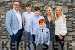Donnacha Tobin from Tralee standing with his family as he receives his First Holy Communion in St Johns on Saturday L to r: Ken, Oisin, Orin, Caoimhe and Emer Tobin.