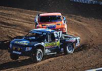 Dec. 9, 2011; Chandler, AZ, USA;  LOORRS pro 4 unlimited driver Rob MacCachren during qualifying for round 15 at Firebird International Raceway. Mandatory Credit: Mark J. Rebilas-